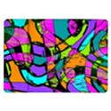 Abstract Sketch Art Squiggly Loops Multicolored Samsung Galaxy Tab 10.1  P7500 Flip Case View1
