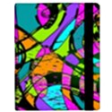 Abstract Sketch Art Squiggly Loops Multicolored Samsung Galaxy Tab 10.1  P7500 Flip Case View3