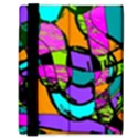 Abstract Sketch Art Squiggly Loops Multicolored Samsung Galaxy Tab 8.9  P7300 Flip Case View3