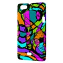 Abstract Sketch Art Squiggly Loops Multicolored Sony Xperia Miro View3