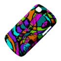 Abstract Sketch Art Squiggly Loops Multicolored BlackBerry Q10 View4