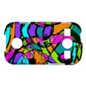 Abstract Sketch Art Squiggly Loops Multicolored Samsung Galaxy S7710 Xcover 2 Hardshell Case View1