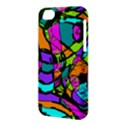 Abstract Sketch Art Squiggly Loops Multicolored Apple iPhone 5C Hardshell Case View3