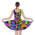 Abstract Sketch Art Squiggly Loops Multicolored Skater Dress View2