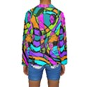 Abstract Sketch Art Squiggly Loops Multicolored Kids  Long Sleeve Swimwear View2