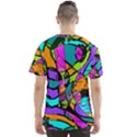 Abstract Sketch Art Squiggly Loops Multicolored Men s Sport Mesh Tee View2