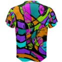Abstract Sketch Art Squiggly Loops Multicolored Men s Cotton Tee View2