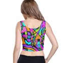 Abstract Sketch Art Squiggly Loops Multicolored Crop Top View3