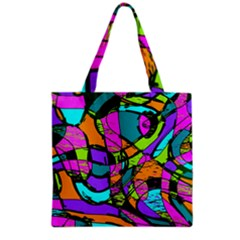 Abstract Sketch Art Squiggly Loops Multicolored Grocery Tote Bag