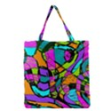 Abstract Sketch Art Squiggly Loops Multicolored Grocery Tote Bag View1