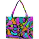 Abstract Sketch Art Squiggly Loops Multicolored Mini Tote Bag View1