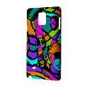 Abstract Sketch Art Squiggly Loops Multicolored Samsung Galaxy Note 4 Hardshell Case View2