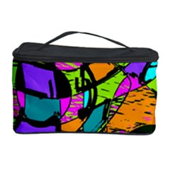 Abstract Sketch Art Squiggly Loops Multicolored Cosmetic Storage Case