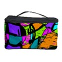 Abstract Sketch Art Squiggly Loops Multicolored Cosmetic Storage Case View1