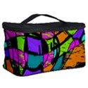 Abstract Sketch Art Squiggly Loops Multicolored Cosmetic Storage Case View2