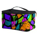 Abstract Sketch Art Squiggly Loops Multicolored Cosmetic Storage Case View3
