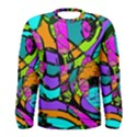 Abstract Sketch Art Squiggly Loops Multicolored Men s Long Sleeve Tee View1