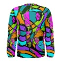 Abstract Sketch Art Squiggly Loops Multicolored Men s Long Sleeve Tee View2