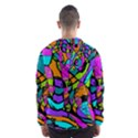 Abstract Sketch Art Squiggly Loops Multicolored Hooded Wind Breaker (Men) View2
