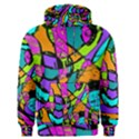 Abstract Sketch Art Squiggly Loops Multicolored Men s Pullover Hoodie View1