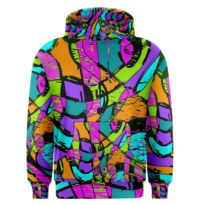Abstract Sketch Art Squiggly Loops Multicolored Men s Pullover Hoodie