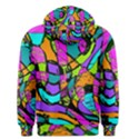 Abstract Sketch Art Squiggly Loops Multicolored Men s Pullover Hoodie View2
