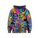 Abstract Sketch Art Squiggly Loops Multicolored Kids  Pullover Hoodie View1