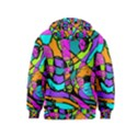 Abstract Sketch Art Squiggly Loops Multicolored Kids  Pullover Hoodie View2