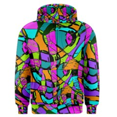 Abstract Sketch Art Squiggly Loops Multicolored Men s Zipper Hoodie