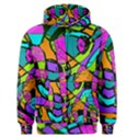 Abstract Sketch Art Squiggly Loops Multicolored Men s Zipper Hoodie View1