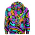 Abstract Sketch Art Squiggly Loops Multicolored Men s Zipper Hoodie View2