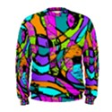 Abstract Sketch Art Squiggly Loops Multicolored Men s Sweatshirt View1