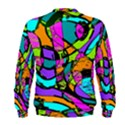 Abstract Sketch Art Squiggly Loops Multicolored Men s Sweatshirt View2