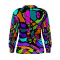 Abstract Sketch Art Squiggly Loops Multicolored Women s Sweatshirt View2
