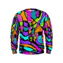Abstract Sketch Art Squiggly Loops Multicolored Kids  Sweatshirt View1