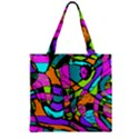 Abstract Sketch Art Squiggly Loops Multicolored Zipper Grocery Tote Bag View2