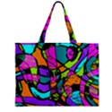 Abstract Sketch Art Squiggly Loops Multicolored Zipper Mini Tote Bag View2