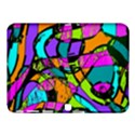 Abstract Sketch Art Squiggly Loops Multicolored Samsung Galaxy Tab 4 (10.1 ) Hardshell Case  View1