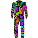 Abstract Sketch Art Squiggly Loops Multicolored OnePiece Jumpsuit (Men)  View2