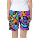 Abstract Sketch Art Squiggly Loops Multicolored Women s Basketball Shorts View2