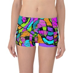 Abstract Sketch Art Squiggly Loops Multicolored Boyleg Bikini Bottoms