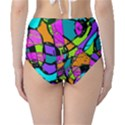 Abstract Sketch Art Squiggly Loops Multicolored High-Waist Bikini Bottoms View2