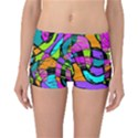 Abstract Sketch Art Squiggly Loops Multicolored Reversible Boyleg Bikini Bottoms View1