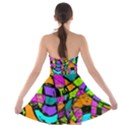 Abstract Sketch Art Squiggly Loops Multicolored Strapless Bra Top Dress View2