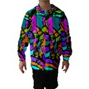 Abstract Sketch Art Squiggly Loops Multicolored Hooded Wind Breaker (Kids) View1