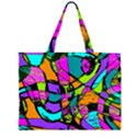 Abstract Sketch Art Squiggly Loops Multicolored Large Tote Bag View2