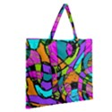 Abstract Sketch Art Squiggly Loops Multicolored Zipper Large Tote Bag View2
