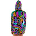 Abstract Sketch Art Squiggly Loops Multicolored Women s Long Sleeve Hooded T-shirt View2