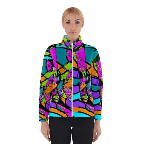 Abstract Sketch Art Squiggly Loops Multicolored Winterwear