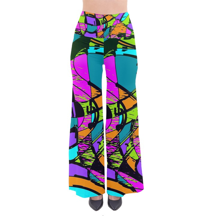 Abstract Sketch Art Squiggly Loops Multicolored Pants